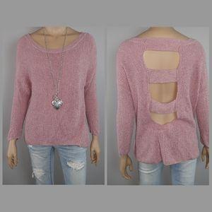 Expess Cutout Back Sweater
